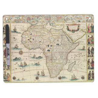 Vintage 1660's Africa Map by Willem Janszoon Blaeu Dry-Erase Boards