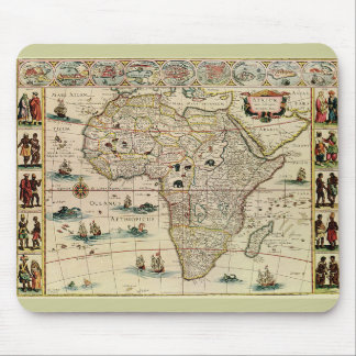 Vintage 1660's Africa Map by Willem Janszoon Blaeu Mouse Pads