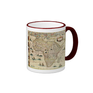 Vintage 1660's Africa Map by Willem Janszoon Blaeu Coffee Mugs
