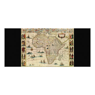 Vintage 1660's Africa Map by Willem Janszoon Blaeu Rack Card