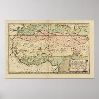 Vintage 1679 West Africa Map Poster