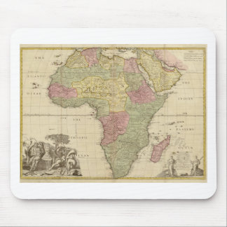 Vintage 1725 Africa Map Mouse Pad