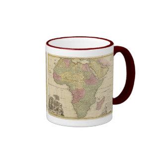 Vintage 1725 Africa Map Ringer Mug