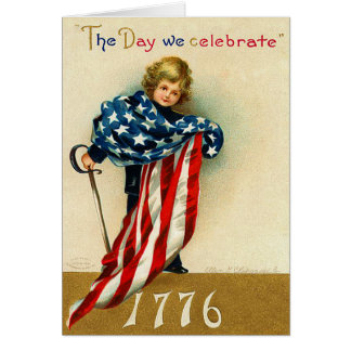 Vintage 1776 - 4th of July Card