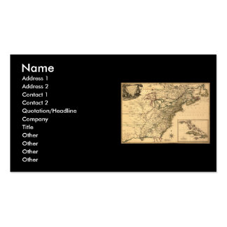 Vintage 1777 American Colonies Map by Phelippeaux Business Card Template