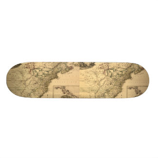 Vintage 1777 American Colonies Map by Phelippeaux Skateboard Deck