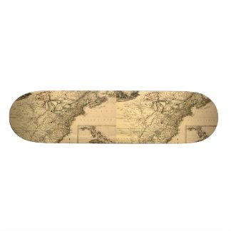 Vintage 1777 American Colonies Map by Phelippeaux Skateboard Deck