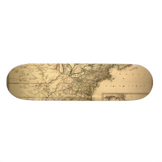 Vintage 1777 American Colonies Map by Phelippeaux Skateboards