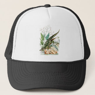 Vintage 1800s Alligator Crocodile Illustration Trucker Hat