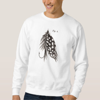 Vintage 1800s Angling Fly Fishing Flies Lures Lure Sweatshirt