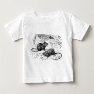 Vintage 1800s Barn Mouse Retro Mice Illustration Baby T-Shirt