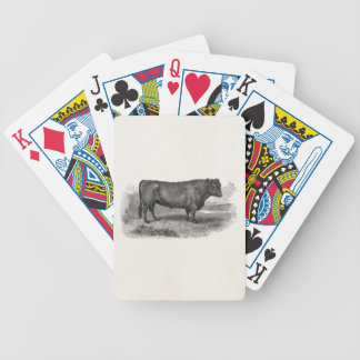 Vintage 1800s Bull Illustration Retro Cow Bulls Bicycle Playing Cards
