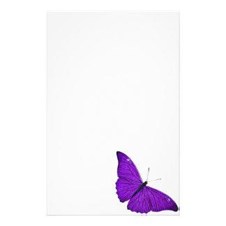 Vintage 1800s Dark Purple Butterfly Illustration Stationery Design