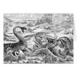 Vintage 1800s Dinosaur Illustration - Dinosaurs Greeting Card