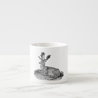 Vintage 1800s Fallow Deer Illustration Template Espresso Cup