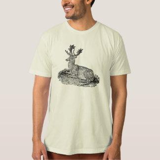 Vintage 1800s Fallow Deer Illustration Template T-Shirt