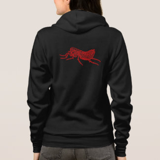 Vintage 1800s Flea Illustration - Fleas Template Hoodie