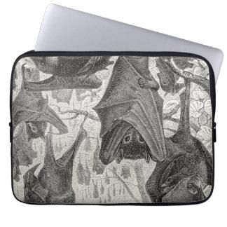 Vintage 1800s Flying Fox Bat Retro Template Bats Laptop Sleeve