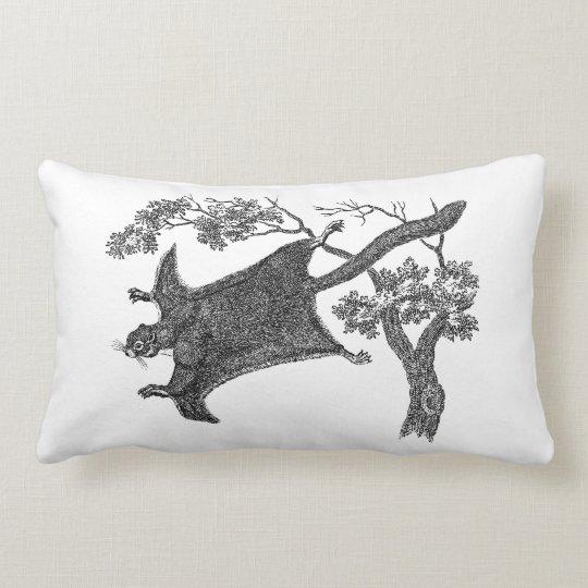 Vintage 1800s Flying Squirrel - Sugar Glider Lumbar Pillow