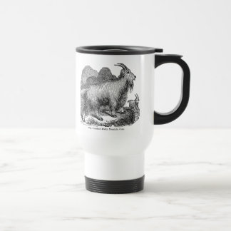 Vintage 1800s Goats American Rocky Mountain Goat Travel Mug