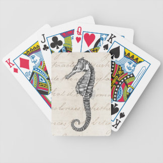 Vintage 1800s Hawaiian Sea Horse Illustration Bicycle Playing Cards