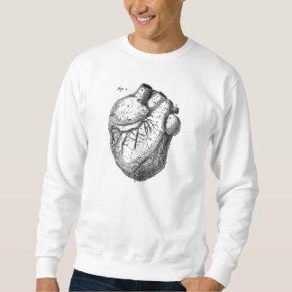 Vintage 1800s Heart Retro Cardiac Anatomy Hearts Sweatshirt