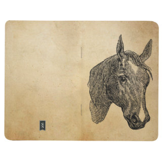 Vintage 1800s Horse Head Illustration Retro Horses Journal