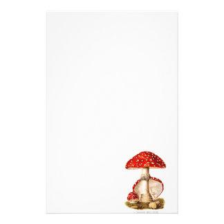 Vintage 1800s Mushroom Red Mushrooms Template Stationery