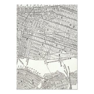 "Vintage 1800s New York City Brooklyn Map NYC Maps 5"" X 7"" Invitation Card"