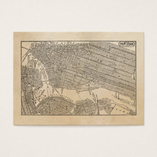 Vintage 1800s New York City Brooklyn Map NYC Maps Business Card