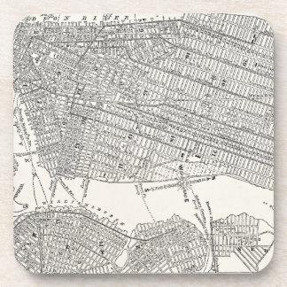 Vintage 1800s New York City Brooklyn Map NYC Maps Coaster