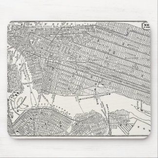 Vintage 1800s New York City Brooklyn Map NYC Maps Mouse Pad