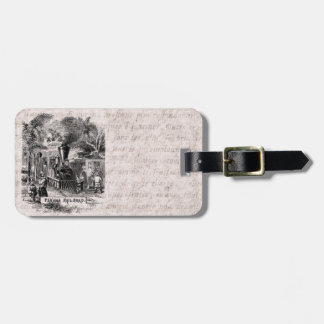 Vintage 1800s Panama Canal Railroad Train Template Luggage Tag