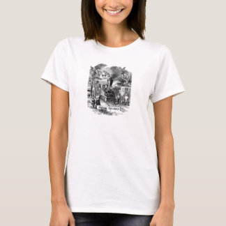 Vintage 1800s Panama Canal Railroad Train Template T-Shirt