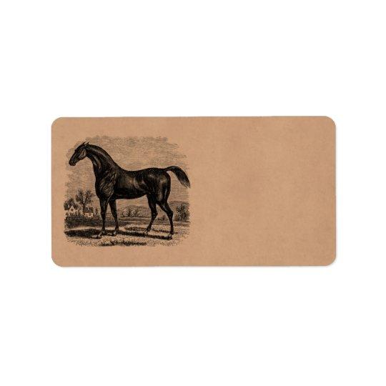 Vintage 1800s Race Horse Retro Thoroughbred Horses