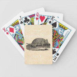 Vintage 1800s Retro Armadillo Antique Armadillos Bicycle Playing Cards
