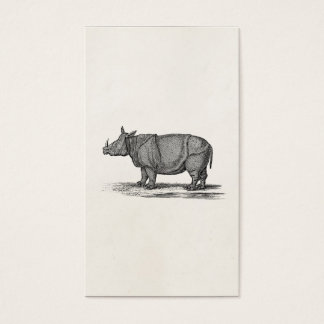 Vintage 1800s Rhinoceros Illustration - Rhino Business Card