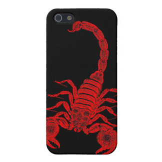 Vintage 1800s Scorpion Illustration Red Scorpions iPhone 5/5S Cover