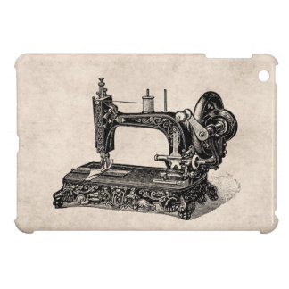 Vintage 1800s Sewing Machine Illustration Case For The iPad Mini