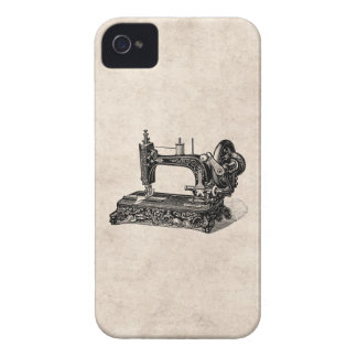 Vintage 1800s Sewing Machine Illustration iPhone 4 Case