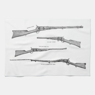 Vintage 1800s Shotgun Antique Shot Guns Old Rifles Kitchen Towel