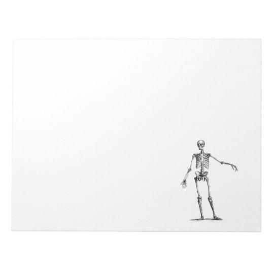 Vintage 1800s Skeleton Retro Skeletons Template Notepad