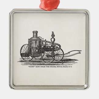 Vintage 1800s Steam Fire Engine Antique Fire Truck Metal Ornament