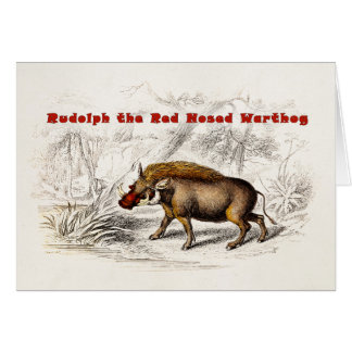Vintage 1800s the Red Nosed Warthog Card