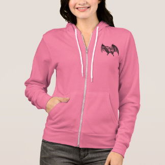 Vintage 1800s Vampire Bat Illustration - Halloween Hoodie