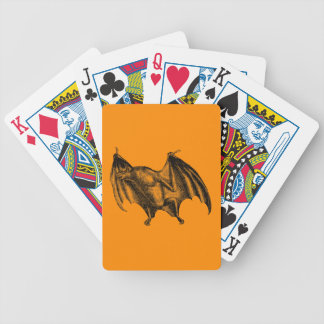 Vintage 1800s Vampire Bat Illustration - Halloween Poker Deck