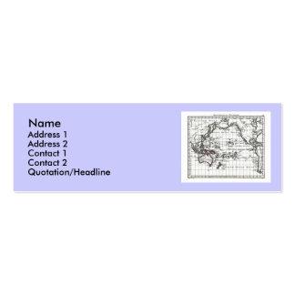 Vintage 1806 Map - Australasie et Polynesie Business Card Templates
