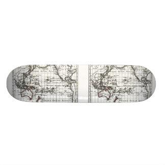 Vintage 1806 Map - Australasie et Polynesie Custom Skate Board