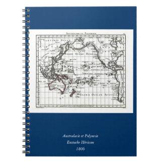 Vintage 1806 Map - Australasie et Polynesie Notebook