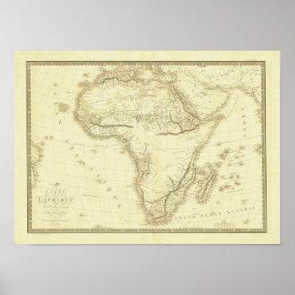 Vintage 1820 Africa Map Poster